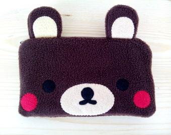 Little Bear cute pouch, pencil case, make up pouch, 3DS case, phone case