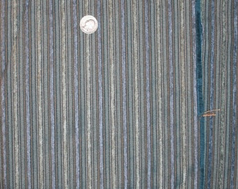 """Upholstery Fabric Blue Gold Beige Striped Ribbed Texture 61 1/2"""" x 44"""""""