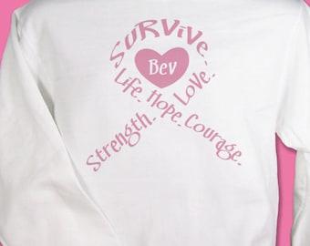 Personalized Breast Cancer Awareness Sweatshirt