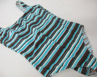 Gottex Stripe One piece Swimsuit Size 14  Swimsuit 1980 Stripe Swimsuit High Leg One Piece Swimsuit