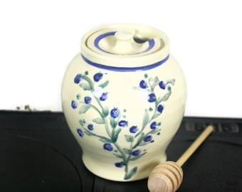Pottery honey pot, sugar bowl, ceramic honey pot, pottery sugar bowl, ceramic sugar bowl, honey pot pottery