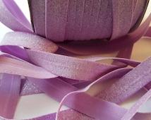 """5/8"""" orchid velvet glitter elastic,   elastic by the yard ,foe elastic for headband,hairties ,elastic glitter,wholesale glitter"""
