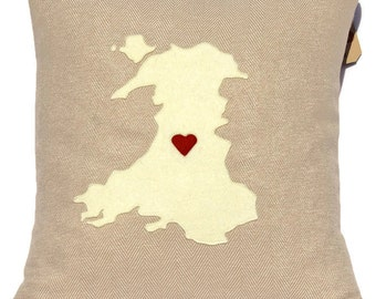 Map of Wales Cushion , Welsh Cushion , Welsh Map