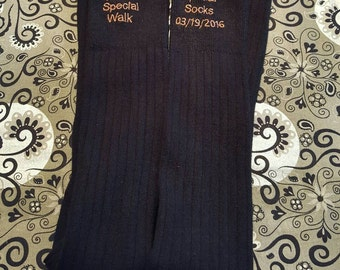 Embroidered Special Walk Special Socks - Wedding Socks - Dad Socks - Dad Wedding Gift - Custom Socks - Men's Wedding Socks - Father Gift