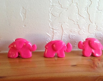 Miniature Elephant Sculpture Set, Miniature Animals, Tiny Elephant Sculptures, Stocking Stuffer