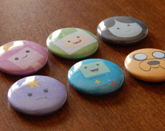 Adventure Time! pinback button badge pin 6 PACK