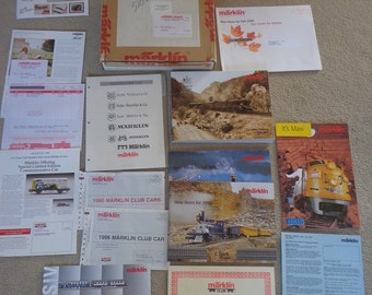 Marklin Club literature,insiders,catalog,brochures mid 1990s,HO to #1 gauges