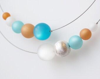 necklace turquoise white polaris silver