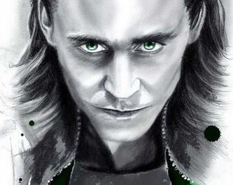 Loki, Tom Hiddleston - Unique Wall Art
