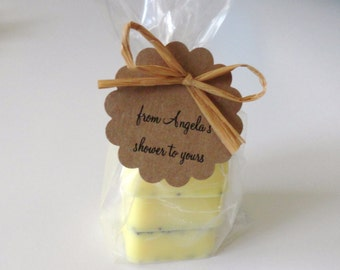 12 Mini Shower Favors w/3 Soaps , Baby Shower and Bridal Shower Favor, Handmade Mini Soap Favors, Ready to Ship Favors, Affordable Favors