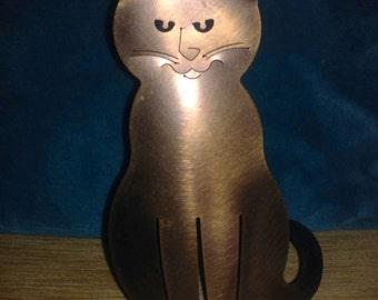 Laser Cut  Copper Cat