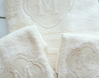 Monogrammed Towel Sets, Personalized Towels, Bridal Shower, Wedding Gift, Housewarming, Anniversary, Just Married,His and Hers, Newlyweds