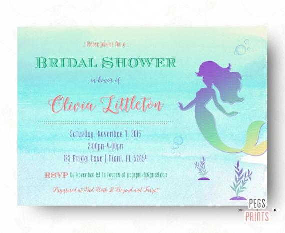 Under the sea bridal shower invitation printable mermaid bridal il570xn filmwisefo Images