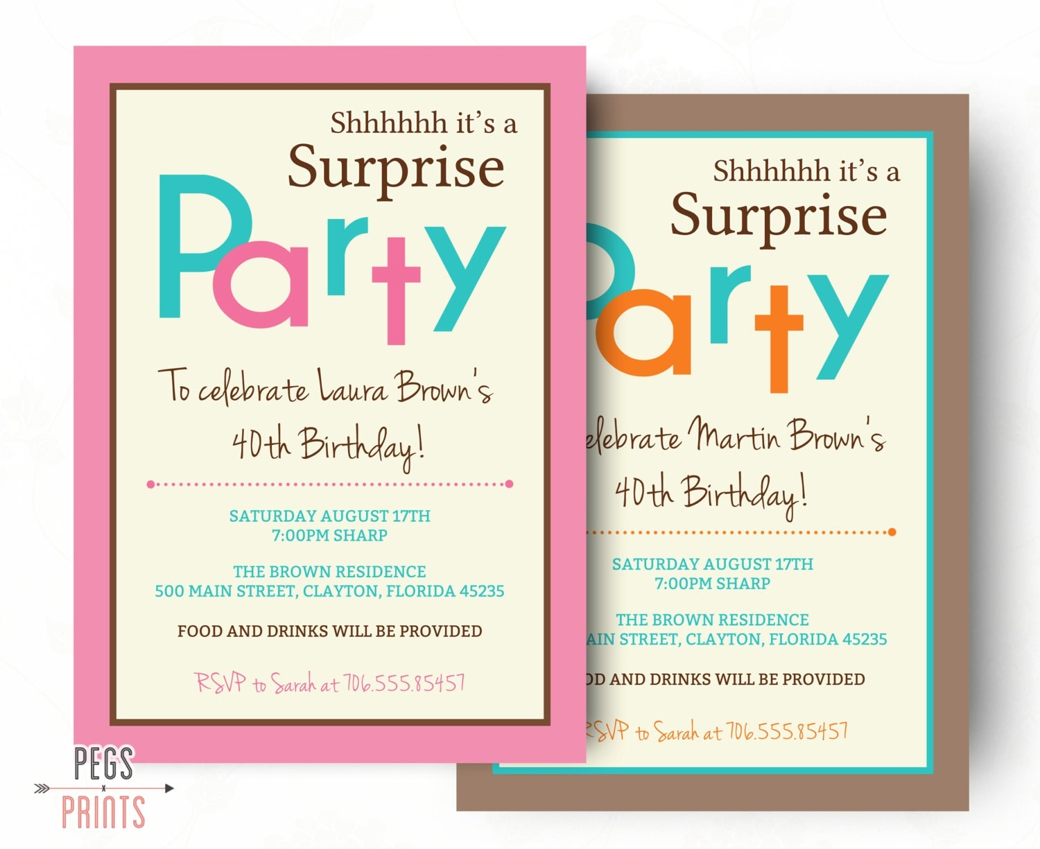 Surprise Birthday Invitation Printable Surprise Birthday - Birthday invitation wording surprise party