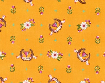 Half yard - 1/2 yard  - Winner's Circle - Orange Crush - SLOW AND STEADY by Tula Pink
