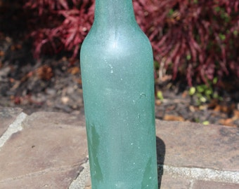 Sea Glass Bottle - Aqua Green