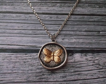 Butterfly Necklace  - Butterfly Pendant
