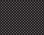 Dot and Dash Dots Black C6172-Black by DoodleBug Designs for Riley Blake Designs