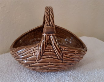 Willow Basket with Brown Glaze, Home Decor, Easter, Hand-Painted