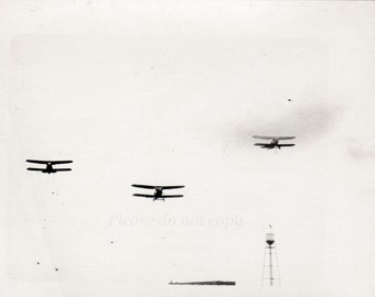 Vintage Photo ~ Airplanes in Flight ~ abstract view