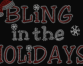 Bling in the Holidays Christmas Rhinestone Transfer