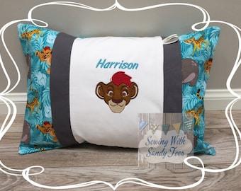Kids pillow, Lion Guard, Kion Inspired Travel Pillow case, Personalized Kion , Lion Guard Pillow Cover, Kids Bedding, Lion Guard, Kion Beddi