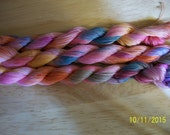 Hand Dyed thread. 50 yards of size 20 high quality thread