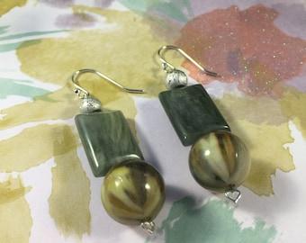 Forrest Green, Cat Eye Glass Beads