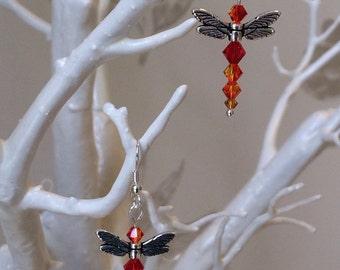 Dragon Fire Fly Earrings
