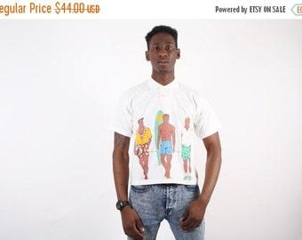 ON SALE Ending 2/12 80s Neon Surfer Golf Shirt - Neon Surfer - Neon Men's Shirt  - 1552