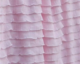 """Soft Pink 1' ruffle fabric {remnant} 34"""""""