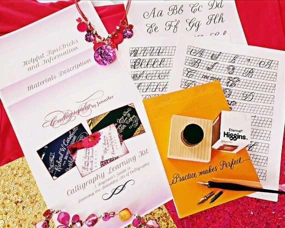 Calligraphy Learning Kit Learn Calligraphy Calligraphy