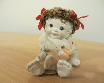 """Vintage Dreamsicles figurine  """"Kity and Me"""" by Cast Art Industries 1994"""