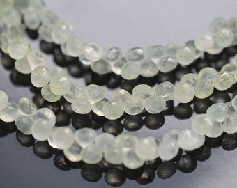 Prehnite Faceted Onion Briolettes, 6 - 7 mm, 6 beads GM2601FO/10/6 #405