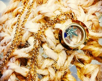 Necklace plated and gold lucky locked small model