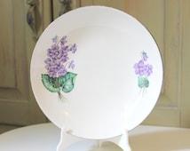 Vintage Violets Homer Laughlin Rhythm Bowl Vintage Dinnerware China Dinnerware Vintage Vegetable Bowl Violets Rhythm Purple Lavender Flowers