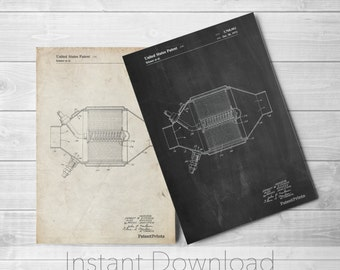 Catalytic Converter Printables, Car Part Art, Garage Decor, Mechanic Gift, Car Print, PP0525