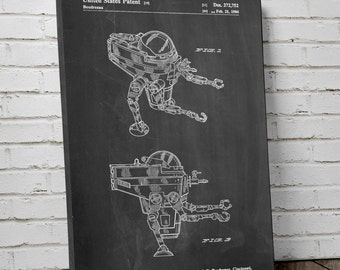 Star Wars CAP-2 Mini-Rig Patent Canvas Art, Empire Strikes Back, Star Wars Canvas Art, Starwars Art, Star Wars Ships, Canvas Decor pp1177