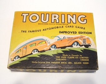 1947 Touring Card Game Improved Complete Automobile Travel Mid Century Vintage