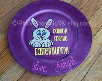 Carrots for the Easter Bunny - Personalized Plate