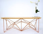 Bench, Midcentury Modern,Modern Bench, The Yoshi Copper