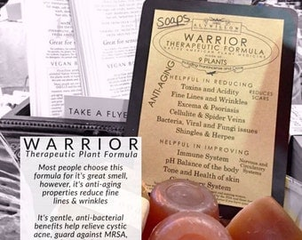 WARRIOR Therapeutic Plant Formula in skincare & moisturizers  || Frankincense  || Anti-Aging and extra soft skin || balance pH levels ||