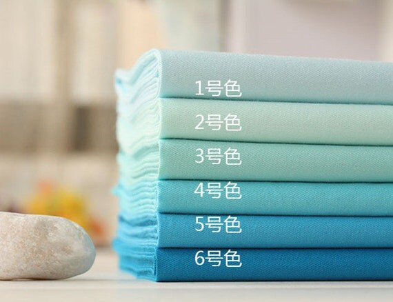 Pastel Water Blue Cotton Fabric Solid Color Twill Fabric