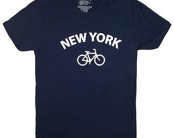 New York Bicycle T-shirt. Bike tshirt. Cycling graphic tee.
