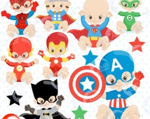 80%OFF Superhero Babies Clipart, Super Hero Baby, Babies Clipart, Baby Birthday, Baby Shower, Commercial Use, AMB-1337