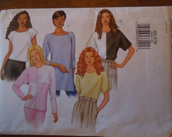 Butterick 3030, UNCUT sewing pattern, craft supplies,petite,  misses, womens, teens, size XS,S, M, blouse, top