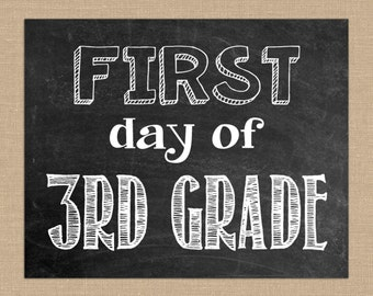 It's just a graphic of Tactueux First Day of 3rd Grade Printable
