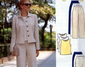 5941, Butterick Butterick, Misses Jacket, Top shirt blouse, Skirt and Pants, short or long skirt