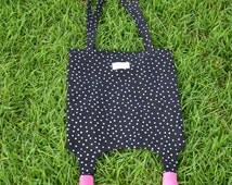 Bag Purse, Hot Style Black Polka Dots Pattern and Shoe Shape Bottom Pattern Single Shoulder Tote Beach Bag Purse