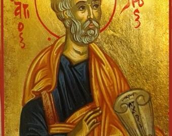 Saint Perer.st Peter.gift.SaintS icons.hand painted icons.greek icons.religious icons christian icons.katholic icons byzantine orthodox icon